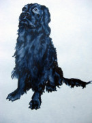 Spaniels Paintings - Charlie Waiting by Lil Taylor