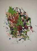 Abstracted Paintings - Charlies Brain by Edward Wolverton