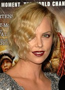 Curled Hair Prints - Charlize Theron At Arrivals For Afi Print by Everett