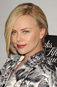 Messy Updo Framed Prints - Charlize Theron At In-store Appearance Framed Print by Everett