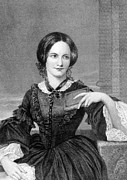 1800s Prints - Charlotte Bronte 1816-1855, British Print by Everett