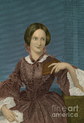 Charlotte Photo Posters - Charlotte Bronte, English Author Poster by Photo Researchers