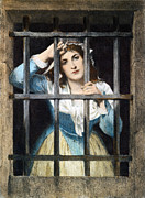 Corday Framed Prints - Charlotte Corday Framed Print by Granger