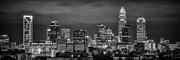 Clt Photo Prints - Charlotte Greyscale Print by Brian Young