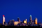 Mecklenburg County Photos - Charlotte NC cobalt skyline by Patrick Schneider