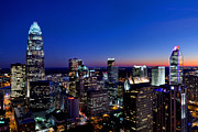 Charlotte Photo Prints - Charlotte NC downtown at dusk Print by Patrick Schneider