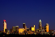 Mecklenburg County Prints - Charlotte NC skyline at sunrise Print by Patrick Schneider