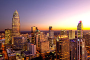 Charlotte Photo Prints - Charlotte NC skyline close in Print by Patrick Schneider