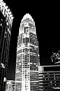 Charlotte Skyline Posters - Charlotte North Carolina Bank of America Building Poster by Kim Fearheiley