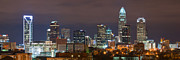 Urban Framed Prints - Charlotte Skyline 2012 Framed Print by Brian Young