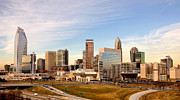 Charlotte Photo Prints - Charlotte Skyline at Daylight Print by Patrick Schneider
