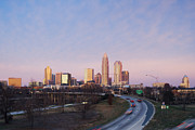 Charlotte Skyline Posters - Charlotte Skyline at Sunrise Poster by Jeremy Woodhouse