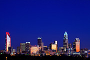 Mecklenburg County Prints - Charlotte skyline at sunrise Print by Patrick Schneider