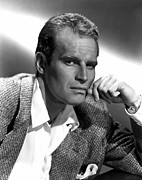 1950s Portraits Prints - Charlton Heston, 1950s Print by Everett