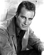 1950s Portraits Metal Prints - Charlton Heston, C. Mid 1950s Metal Print by Everett