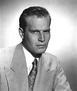 Publicity Shot Framed Prints - Charlton Heston, Ca 1954 Framed Print by Everett