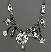 Charm Necklace Jewelry - Charmed Again by Mirinda Kossoff