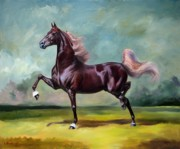 Equine Art Paintings - Charmed and Bewitched by Jeanne Newton Schoborg