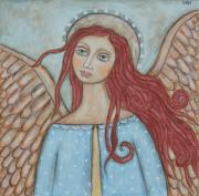 Christian Art . Devotional Art Paintings - Charmeine by Rain Ririn