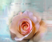 Flower Still Life Prints Mixed Media Posters - Charming Rose Poster by Batya Sagy