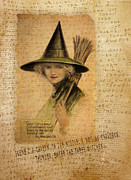 Sarah Vernon Art - Charming Witch by Sarah Vernon