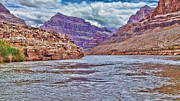 Charting The  Mighty Colorado River Print by Douglas Barnard