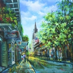French Quarter Paintings - Chartres Afternoon by Dianne Parks