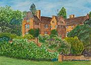 Old Houses Painting Metal Prints - Chartwell House Westerham Kent Metal Print by Tony Williams