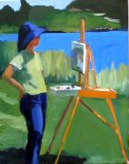 Boston Painting Originals - Charyl Painting at Pope John Paul II Park by Deb Putnam