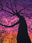 Colorful Fabric Tapestries - Textiles Metal Prints - Charyou Tree Metal Print by Kim Jacobi
