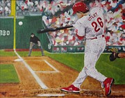 Phillies Painting Metal Prints - Chase Metal Print by Al Fonollosa