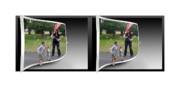 Sfx Photo Prints - Chasing Bubbles - Gently cross your eyes and focus on the middle image Print by Brian Wallace