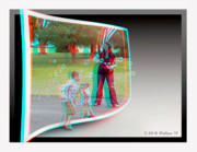 Sfx Photo Prints - Chasing Bubbles - Use Red-Cyan 3D glasses Print by Brian Wallace