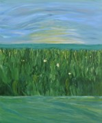 Marsh Scene Paintings - Chasing Shadows by Sara Credito