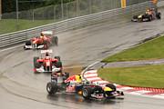 Chasing Vettel Print by Art Ferrier
