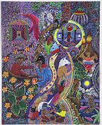 Visionary Art Painting Prints - Chasnamancho Umanki Print by Pablo Amaringo