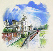 Chateaux Prints - Chateau  Anet en France Print by Miki De Goodaboom