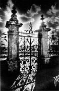 Wrought Iron Framed Prints - Chateau de Carrouges Framed Print by Simon Marsden