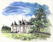 Chateaux Prints - Chateau de Chaumont in France Print by Miki De Goodaboom
