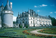 Chateau Prints - Chateau De Chenonceau Print by Photo Researchers, Inc.