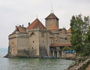 Chateau Prints - Chateau de Chillon Switzerland Print by Marilyn Dunlap