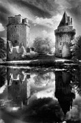 Silver Moonlight Acrylic Prints - Chateau de Largoet Acrylic Print by Simon Marsden