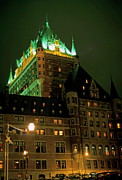 Castle Photos - Chateau Frontenac at night in Quebec City by Sami Sarkis