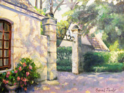 Window Art On Canvas Posters - Chateau Gate Poster by Sarah Parks