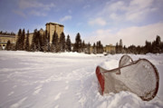 Hockey Net Posters - Chateau Lake Louise in winter in Alberta Canada Poster by Mark Duffy
