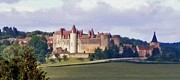 Chateau Prints - Chateauneuf en Auxois France Print by Marilyn Dunlap