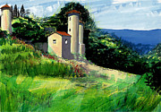 South Of France Mixed Media - Chateaux de Beaumelles by David Bates