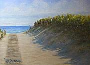 Scene Pastels Prints - Chatham Beachwalk Print by Tanja Ware