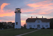 Chatham Posters - Chatham Lighthouse Sunset Poster by John Burk
