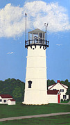 Cape Cod Lighthouse Paintings - Chatham Lighthouse Tower by Frederic Kohli
